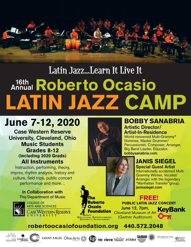 16th Annual Roberto Ocasio Latin Jazz Camp